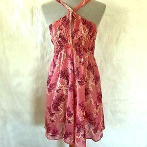 $78 Free People Intimately Rose Halter Dress XS